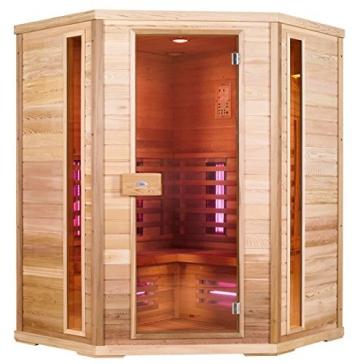 Infrarotkabine Nobel Sauna 150C mit Duoflex Strahlern