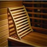 Ergonomische Rückenlehne aus Weichholz mit rutschfesten Stopper -